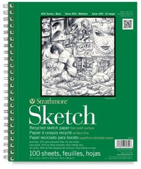 RECYCLED SKETCH PAD 9X12