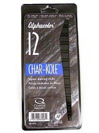 Alphacolor 'Char-Kole' Soft Pastels - Black (12pk)