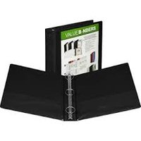 "1 1/2"" OVERLAY BINDER-BLACK"