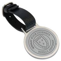 Murray State Black Leather Strap - Silver Fob w/Academic Seal