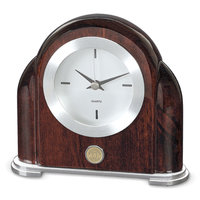 Murray State Art Deco Desk Clock - Gold w/Academic Seal
