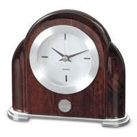 Murray State Art Deco Desk Clock - Silver w/Academic Seal