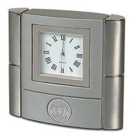 Bonaventure Murray State Desk Clock - Silver Academic Seal