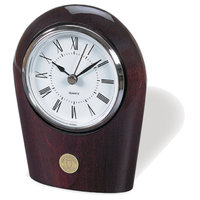 Murray State Palm Desk Clock - Silver w/Academic Seal