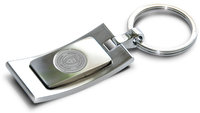 Murray State Satin & Polished Keyring - Silver w/Academic Seal