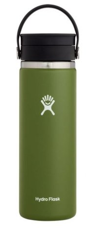 HYDROFLASK 20 OZ WIDE MOUTH WITH FLEX SIP LID- OLIVE F20