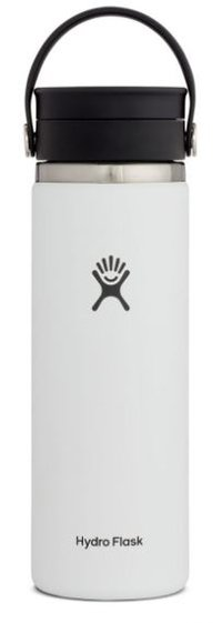 HYDROFLASK 20 OZ WIDE MOUTH WITH FLEX SIP LID- WHITE F20