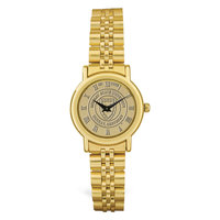 Murray State Ladies' Watch w/Rolled Link Band - Gold w/Academic Seal in Round Casing