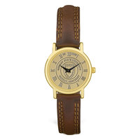 Murray State Ladies' Watch - Gold Academic Seal & Brown Wristband