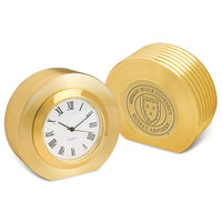 Murray State 'Presidential II' Desk Clock - Gold w/Academic Seal