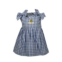 Garb Infant Gingham Romper Dress - Navy/White