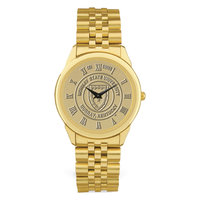 Murray State Men's Watch w/Rolled Link Band - Gold w/Academic Seal