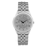 Murray State Men's Watch w/Rolled Link Band - Silver w/Academic Seal
