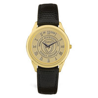 Murray State Men's Watch - w/Gold Academic Seal & Black Leather Wristband