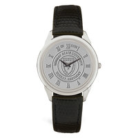 Murray State Men's Watch - w/Silver Academic Seal & Black Leather Wristband