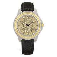 Murray State Men's 2-Tone Watch - Gold Academic Seal & Black Wristband