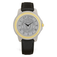 Murray State Men's 2-Tone Watch - Silver Academic Seal & Black Wristband