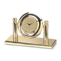Murray State Arcade Desk Clock - Gold w/Academic Seal