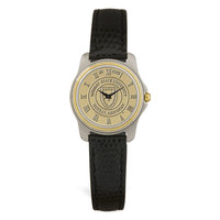 Murray State Ladies' 2-Tone Watch - Gold Academic Seal & Black Wristband