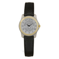 Murray State Ladies' 2-Tone Watch - Silver Academic Seal & Black Wristband