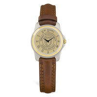 Murray State Ladies' 2-Tone Watch - Gold Academic Seal & Brown Wristband