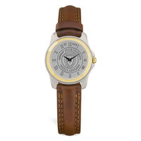 Murray State Ladies' 2-Tone Watch - Silver Academic Seal & Brown Wristband
