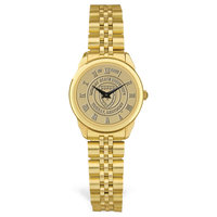 Murray State Ladies' Watch w/Rolled Link Band - Gold w/Academic Seal