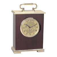 Murray State 'Le Grande' Carriage Mantle Clock - Gold w/Academic Seal