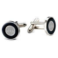 Murray State Cufflinks - Silver w/Black Enamel Inlay & Academic Seal
