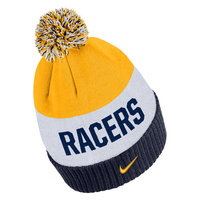 NIKE NAVY/WHITE/GOLD STRIPED W/POM BEANIE F19