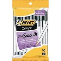 BIC 10 PK CRISTAL BALL PENS- BLACK