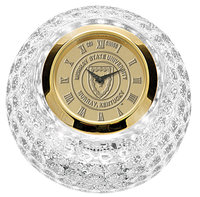 Murray State Crystal Golf Ball Clock w/Gold Academic Seal