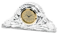 Murray State 'Napoleon' Crystal Desk Clock - Gold w/Academic Seal