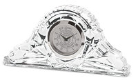 Murray State 'Napoleon' Crystal Desk Clock - Silver w/Academic Seal