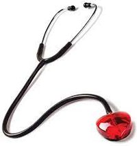 CLEAR SOUND STETHOSCOPE- HEART- BLACK