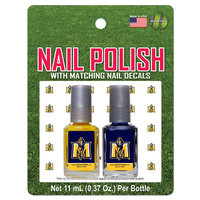 2 PK NAIL POLISH WITH DECALS-NAVY/GOLD