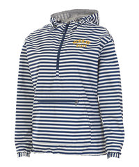 Charles River Ladies Pullover Jacket - Navy/White Stripe