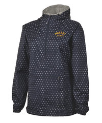 Charles River Ladies Pullover Jacket - Navy/White Dot