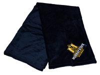 Know Wear Pineapple Stitch Fleece Blanket - Navy