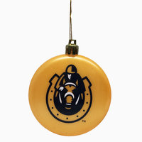 Murray State Flat Plastic Ornament - Gold w/Horseshoe Logo