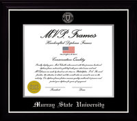 "11"" x 14"" Diploma Frame - Black Satin Finish w/Seal"