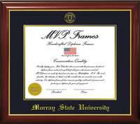 "11"" x 14"" Diploma Frame - Cherry Gloss w/Seal"
