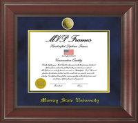 """11"""" x 14"""" Diploma Frame - Mahogany w/Medallion"""