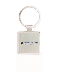 Murray State Square Keychain - Academic Logo (Silver)