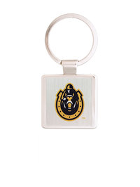 Murray State Square Keychain - Horseshoe Logo (Silver)