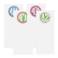 Skinny Monogram Sorority Notepads
