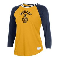 Under Armour Ladies Long Sleeve Baseball Tee - Gold/Navy