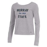 Under Armour Ladies Jersey Crossback Crew - Heather Grey