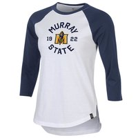 Under Armour Ladies Performance Baseball Tee - White/Navy