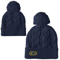 UA LADIES NAVY EVERYDAY POM BEANIE F20